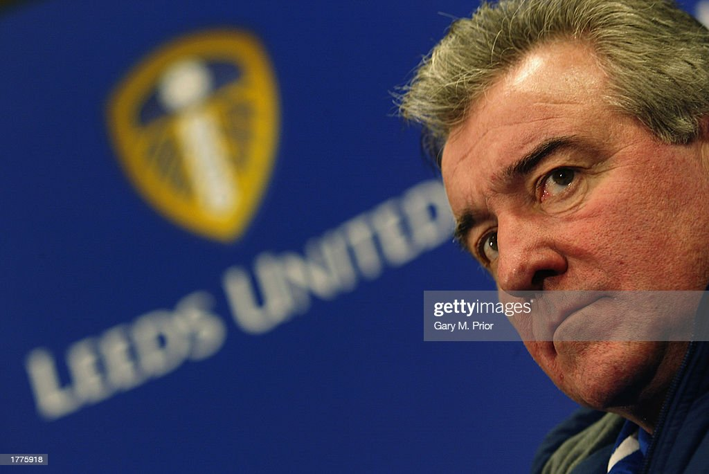 Leeds United manager Terry Venables faces the press during a Leeds United press conference on January 31, 2003 at Elland Road in Leeds, England.