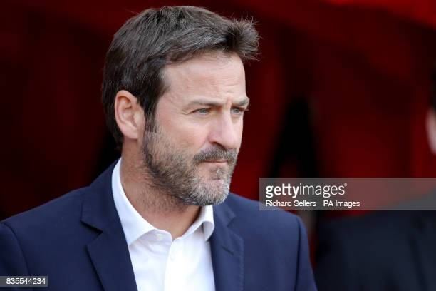 Leeds United manager Thomas Christiansen during the Sky Bet Championship match at the Stadium of Light Sunderland