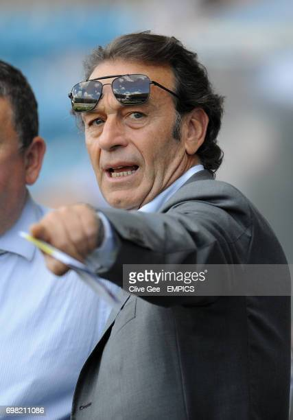 Leeds United owner Massimo Cellino before the Sky Bet Championship match at the New Den London