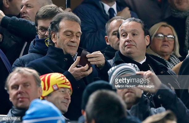Leeds United owner Massimo Cellino in the stands during the EFL Cup Quarter Final match at Anfield Liverpool