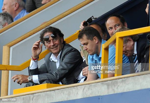 Leeds United owner Massimo Cellino reacts after his side conceded a second goal during the Sky Bet Championship match at the New Den London