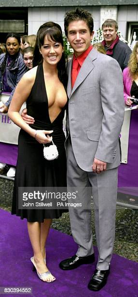Leeds United striker Harry Kewell arrives with girlfriend Sheree Murphy to the British Soap awards 2000 at the BBC TV studios