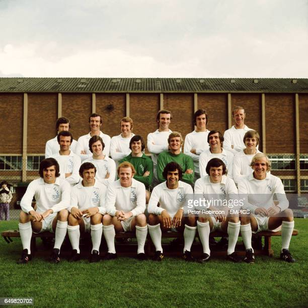 Leeds United Team Group 197273 Back Row LR Trevor Cherry Paul Madeley Mick Jones Roy Ellam Joe Jordan Jack Charlton Middle Row Paul Reaney Chris...