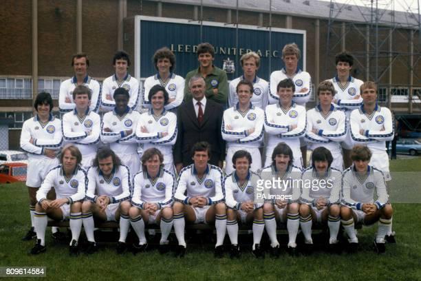 Leeds United team group for the 198081 season Paul Madeley Byron Stevenson Paul Hart John Lukic Keith Parkinson Neil Firm and Derek Parlane Gwyn...