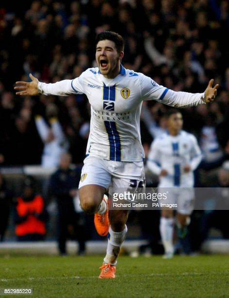 Leeds United's Alex Mowatt celebrates his goal and Leeds United's 5th during the Sky Bet Championship match at Elland Road Leeds