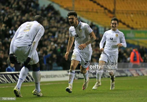 Leeds United's Alex Mowatt celebrates scoring his sides first goal of the game against Ipswich Town