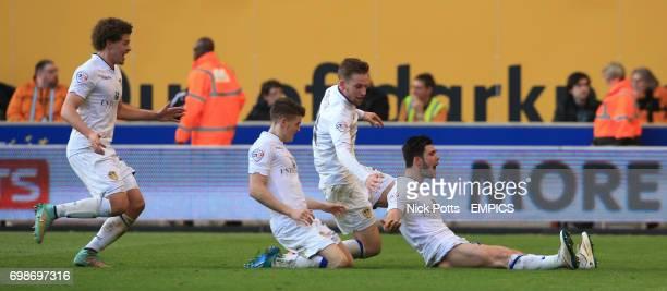 Leeds United's Alex Mowatt celebrates scoring their 3rd goal against Wolverhampton Wanderers