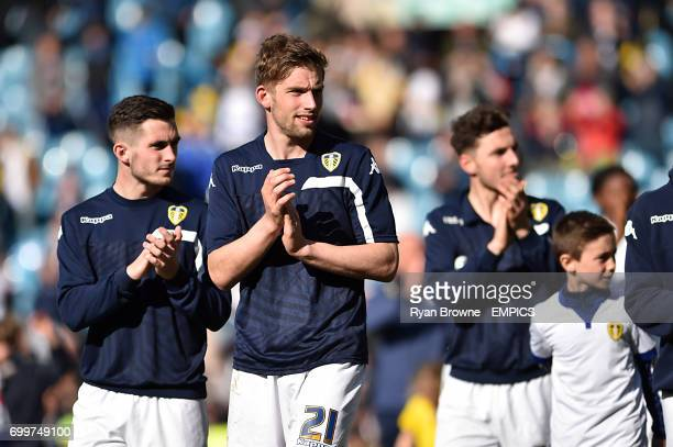 Leeds United's Charlie Taylor applauds the fans after the final whistle