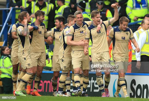 Leeds United's Charlie Taylor celebrates scoring their first goal