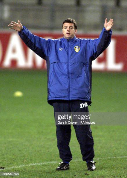LEAGUE Leeds United's David O'Leary during the training session ahead of the Champions League football match against Anderlecht at the Stade Constant...