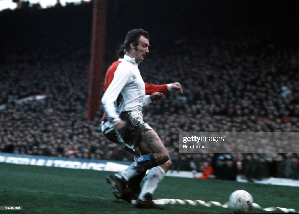 Leeds United's defender Paul Madeley in action
