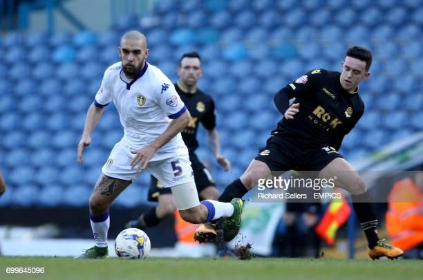 Leeds United's Giuseppe Bellusci gets away from Bolton Wanderers' Zach Clough