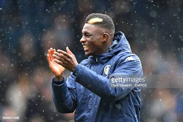 Leeds United's Hadi Sacko applauds the home support