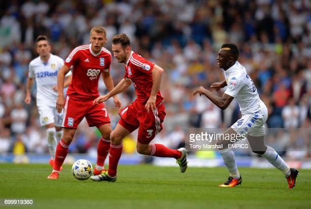 Leeds United's Hadi Sacko chases after Birmingham City's Jonathan Grounds