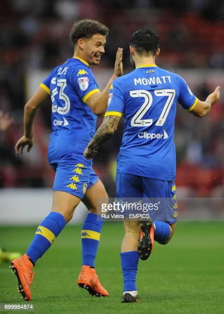 Leeds United's Kalvin Phillips celebrates with Leeds United's Alex Mowatt after scoring