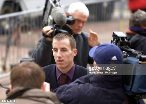 Leeds United's Lee Bowyer arrives at Hull Crown Court on the latest day of the Leeds United footballers' trial as the jury was beginning its fourth...