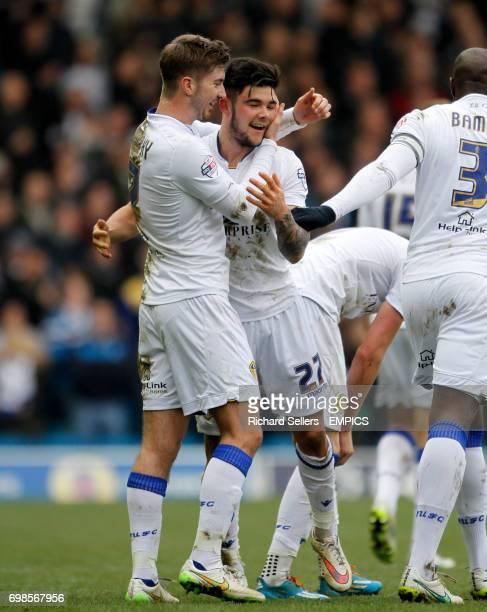Leeds United's Luke Murphy and Alex Mowatt celebrate the opening goal