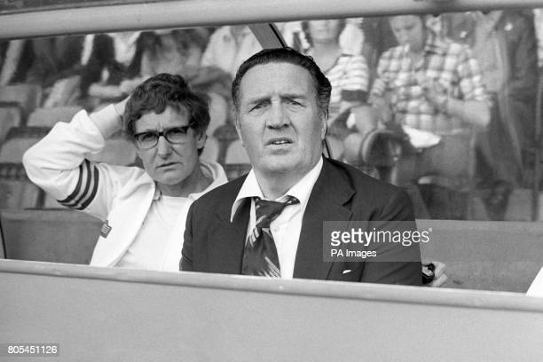 Leeds United's Manager Jock Stein watches his side beat Chelsea 30 at Stamford Bridge