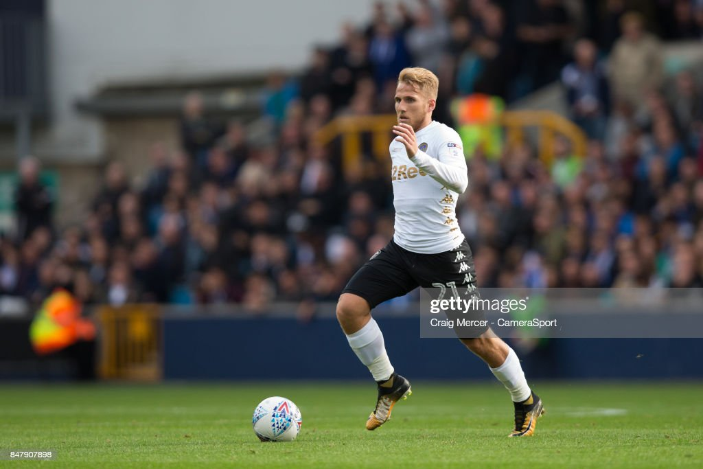 Leeds United's Samuel Saiz in action during the Sky Bet Championship match between Millwall and Leeds United at The Den on September 16, 2017 in London, England.