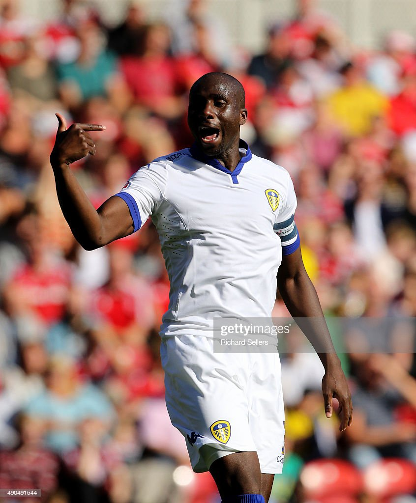 Leeds United's Sol Bamba in action during the Sky Bet Championship match between Middlesbrough and Leeds United at the Riverside on September 27 2015...