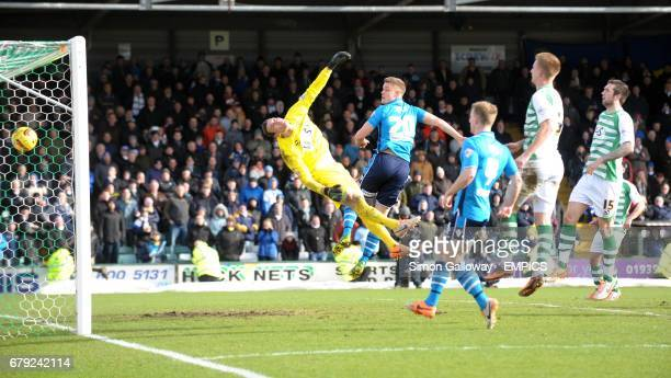Leeds United's Stephen Warnock scores against Yeovil to make it 21