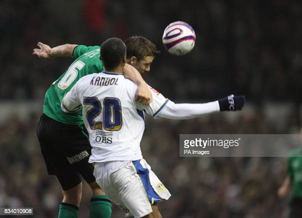 Leeds United's Tresor Kandol and Bristol Rovers Danny Coles battle for the ball during the CocaCola Football League One match at Elland Road Leeds