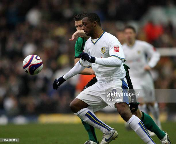 Leeds United's Tresor Kandol and Bristol Rovers Danny Coles in action during the CocaCola Football League One match at Elland Road Leeds