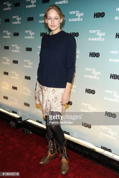 Leelee Sobieski attends HBO THE CINEMA SOCIETY host a screening of 'HOW TO MAKE IT IN AMERICA' at Landmark Sunshine Theater on February 9 2010 in New...