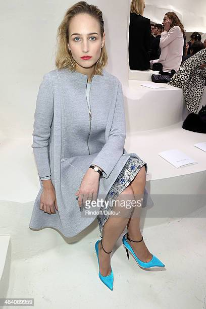 Leelee Sobieski attends the Christian Dior show as part of Paris Fashion Week Haute Couture Spring/Summer 2014 on January 20 2014 in Paris France
