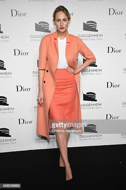 Leelee Sobieski attends the Guggenheim International Gala Dinner made possible by Dior on November 6 2014 in New York City