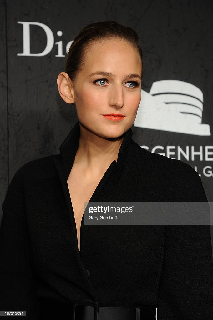 Leelee Sobieski attends the Guggenheim International Gala, made possible by Dior, at the Guggenheim Museum on November 7, 2013 in New York City.