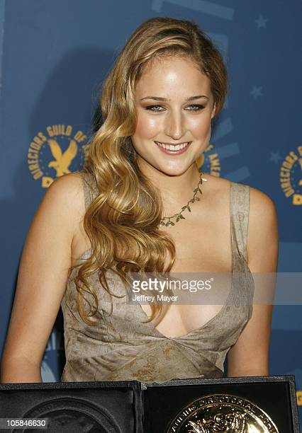 Leelee Sobieski during 59th Annual Directors Guild of America Awards Press Room at Hyatt Regency Century Plaza in Century City California United...