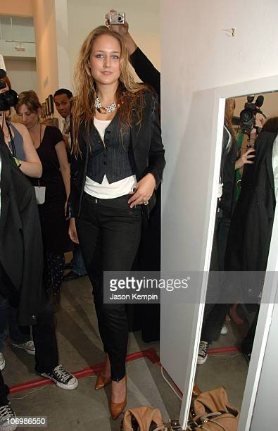 Leelee Sobieski during Olympus Fashion Week Spring 2007 Imitation of Christ Front Row and Backstage at 508 West 25th Street in New York City New York...