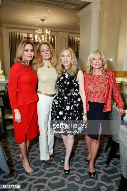 Leesa Rowland Muffie Potter Aston Lauren Lawrence Sharon Bush and Iris Cantor during the Lauren Lawrence and Leesa Rowland Host a Ladies Who Lunch...