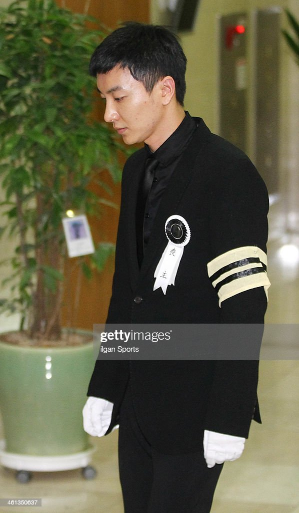 Lee-Teuk At Funeral For His Family