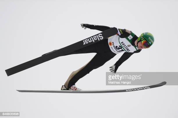 Leevi Mutru of Finland competes in the Men's Nordic Combined HS130 during the FIS Nordic World Ski Championships on March 1 2017 in Lahti Finland