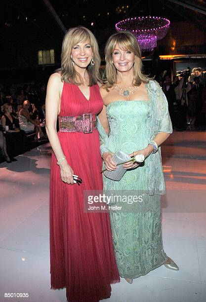 Leeza Gibbons and Deidre Hall attend the 1st Annual Night To Make a Difference At Mr Chow on February 22 2009 in Beverly Hills California