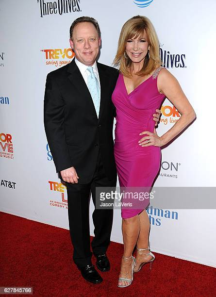 Leeza Gibbons and husband Steve Fenton attend the TrevorLIVE Los Angeles 2016 fundraiser at The Beverly Hilton Hotel on December 4 2016 in Beverly...