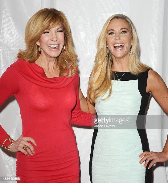 Leeza Gibbons and Kate Gosselin attend the NBCUniversal 2015 press tour at The Langham Huntington Hotel and Spa on January 16 2015 in Pasadena...