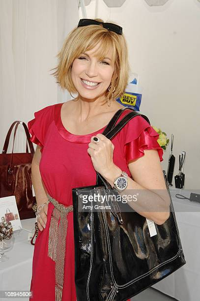 Leeza Gibbons attends Melanie Segal's Annual Platinum Emmy Lounge presented by Sheer Cover Day 2 at the Luxe Hotel on September 14 2007 in Beverly...