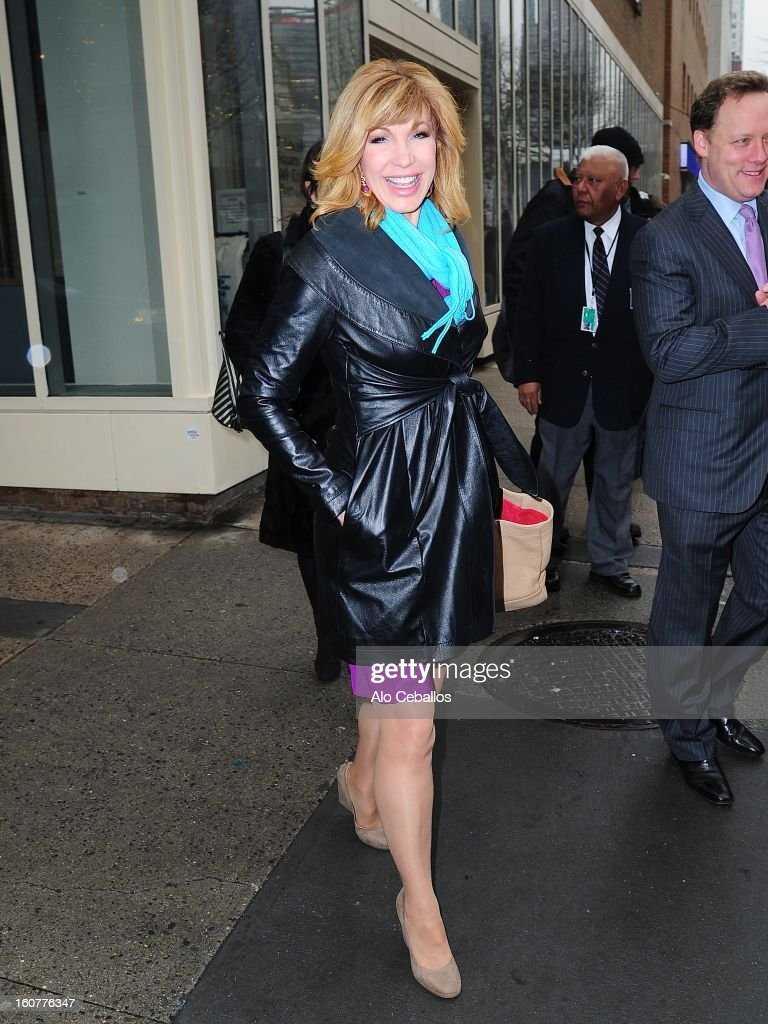 Leeza Gibbons Sighting on February 5, 2013 in New York City.