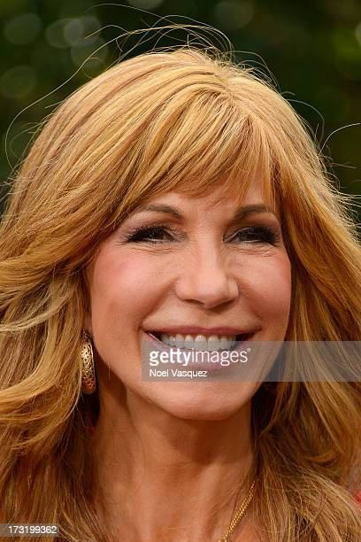 Leeza Gibbons visits 'Extra' at The Grove on July 9 2013 in Los Angeles California