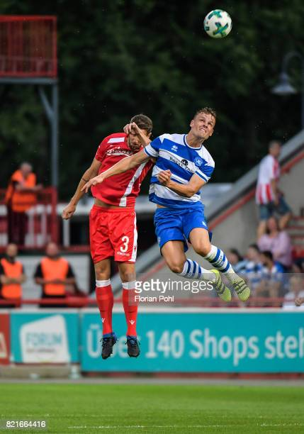 left Christoph Schoesswendter of 1FC Union Berlin during the game between Union Berlin and the Queens Park Rangers on july 24 2017 in Berlin Germany