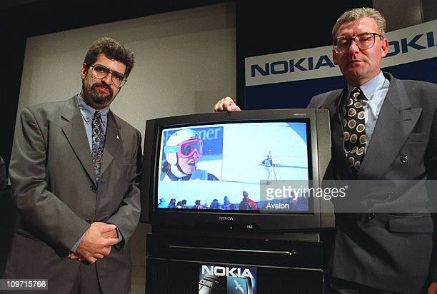 David Silver Managing Director Nokia Group Finland Right FRANK McGETTIGAN Director and General Manager of Channel Four TelevisionLaunching the new...