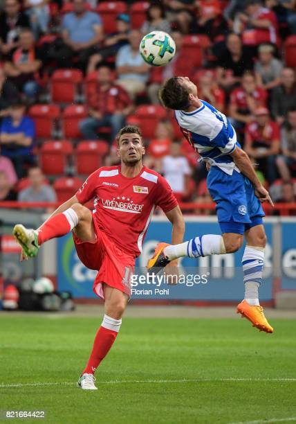 left Dennis Daube of 1FC Union Berlin during the game between Union Berlin and the Queens Park Rangers on july 24 2017 in Berlin Germany