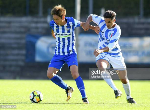 left Genki Haraguchi of Hertha BSC during the test match between Hertha BSC and Club Italia Berlino on july 28 2017 in Berlin Germany