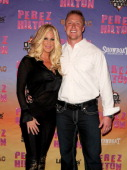 Left Kim Zolciak and right boyfriend Kroy Biermann attend Perez Hilton�s 'One Night in Jersey' during OUT in AC weekend at The House of Blues at...