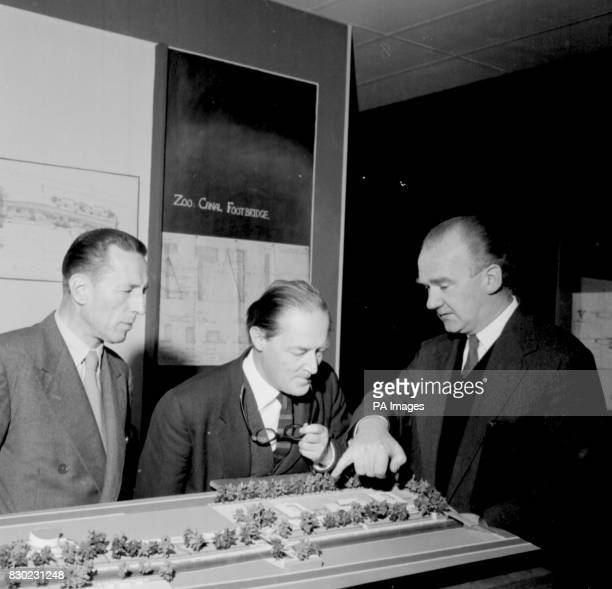 Left right Mr FAP Stengelhofen Sir Hugh Casson and Mr Peter Shepherd Architect and former president of the Royal Academy Sir Hugh Casson died on...
