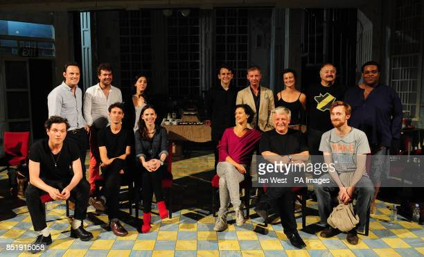 Left The cast of new play The Pride with Back row l to r Harry HaddenPaton Alasdair Buchan and Naomi Sheldon and front row l to r Mathew Horne Al...