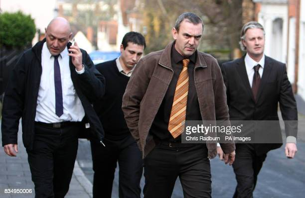 Andrew Cramer Reece Bennett Simon Cramer David White from Whitham Essex arrive at Colchester Magistrates Court Colchester Essex